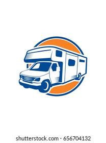 RV Adventures Logo Vector