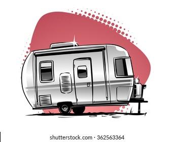 rv camper trailer  icon