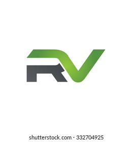 RV company linked letter logo green