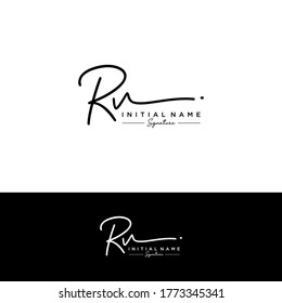 RV Initial letter handwriting and signature logo.
