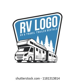RV Recreation Illustration Logo
