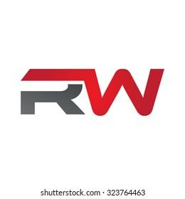 RW company linked letter logo