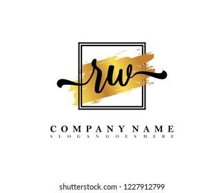 RW Initial handwriting logo concept