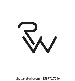 RW initial letter logo template vector icon design