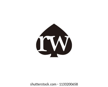 The rw initials logo inside the black shovel