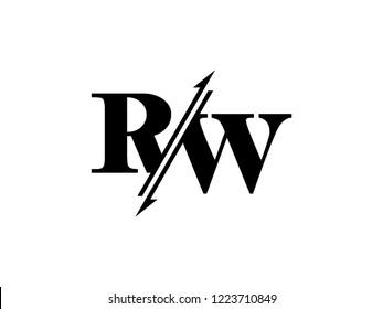 RW initials logo sliced
