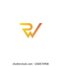 Rw letter creative design logo. R w vector logo