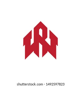 RW letter logo design vector template