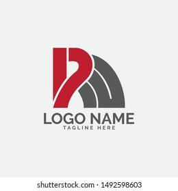 RW letter logo design vector