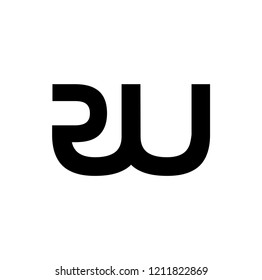 rw letter vector logo