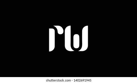 RW logo design template vector illustration minimal design