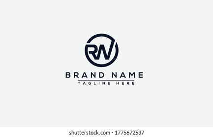 RW Logo Design Template Vector Graphic Branding Element.