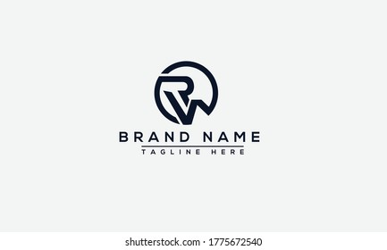 RW Logo Design Template Vector Graphic Branding Element.