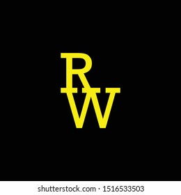 RW logo initials arranged in top and bottom configuration