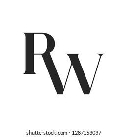 RW logo, monogram, vector