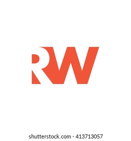RW Logo. Vector Graphic Branding Letter Element. White Background