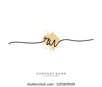 RW R W Initial handwriting logo template