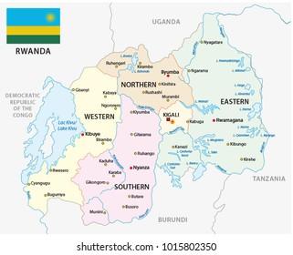 Rwanda Map Stock Vectors Images Vector Art Shutterstock