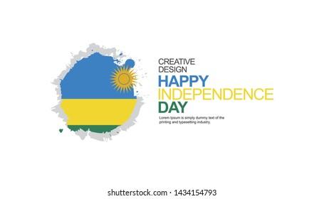 Rwanda Independence Day Celebration Illustration Vector Template