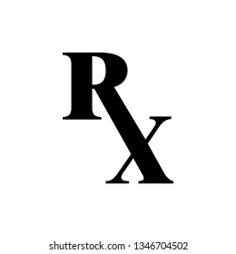 RX Icon. Pharmaceutical Illustration As A Simple Vector Sign & Trendy Symbol for Design and Websites, Presentation or Mobile Application. Flat & Trendy Logo Template.