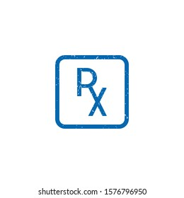 RX icon template. Vector illustration