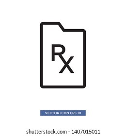RX icon vector illustration template