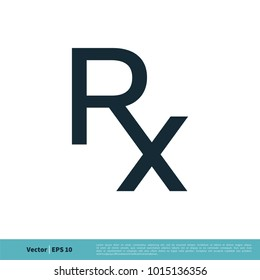 RX Letter Medical Icon Vector Logo Template Illustration Design. Vector EPS 10.