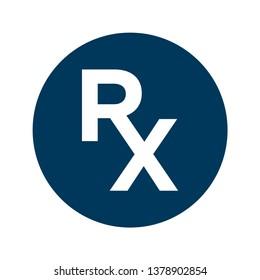 RX - medical icon vector