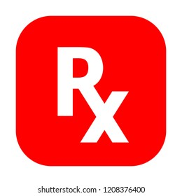 Rx medical prescription vector sign on white background