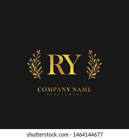 RY Initial beauty floral logo template