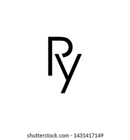 ry initial letter logo vector