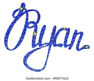 Ryan name lettering tinsels