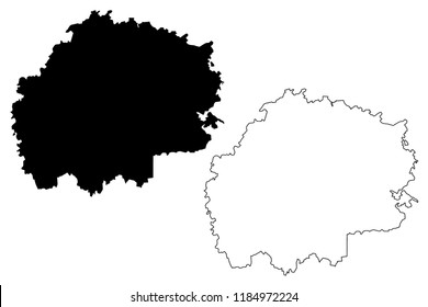 Ryazan Oblast (Russia, Subjects of the Russian Federation, Oblasts of Russia) map vector illustration, scribble sketch Ryazan Oblast map