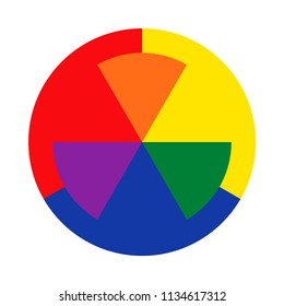Twelve Part Rgb Color Wheel Complementary Stock Vector Royalty Free