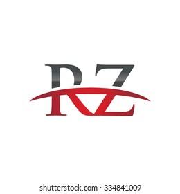 RZ initial company red swoosh logo
