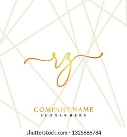 RZ Initial Handwriting logo template vector