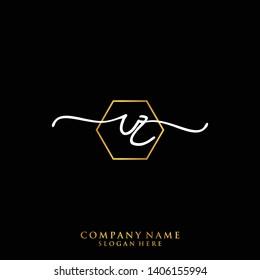 RZ Initial handwriting logo template