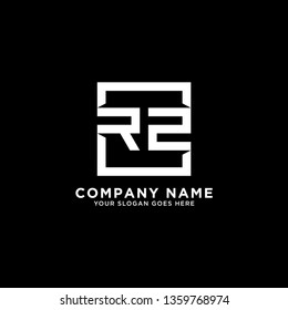 RZ Initial Logo design,RZ letter modern square vector, clean and strong illustration