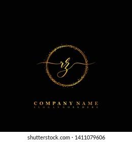 RZ Initial luxury handwriting logo vector