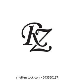 RZ initial monogram logo