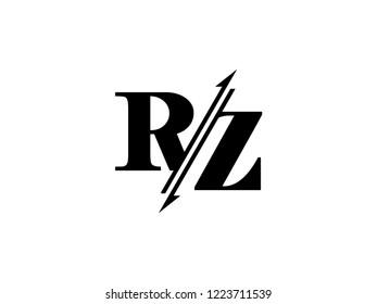 RZ initials logo sliced