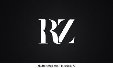 RZ Letter Logo Design Template Vector