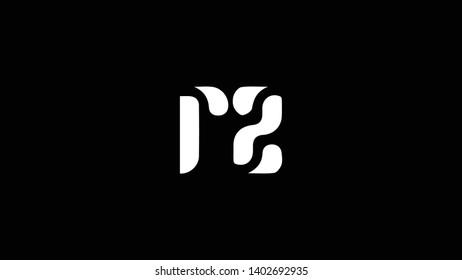 RZ logo design template vector illustration minimal design