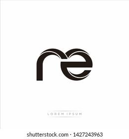 rz r z Initial Letter Split Lowercase Modern Monogram linked outline rounded logo