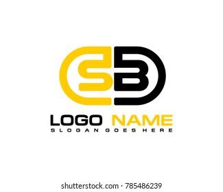S B initial logo template vexctor