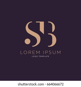 S B logo design template