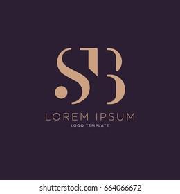 S B logo design template