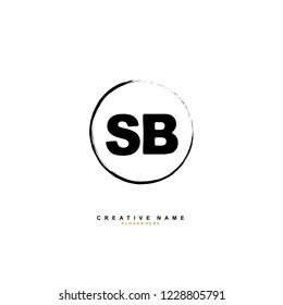 S B SB Initial logo template vector