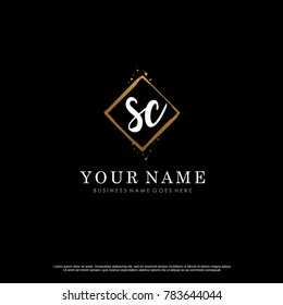 S C Initial abstract logo template vector