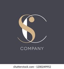 S C logo company template